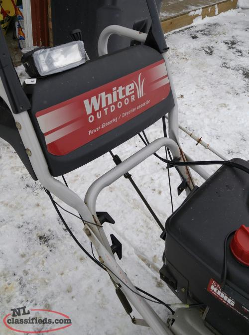 white outdoor snowblower 8.5 hp manual