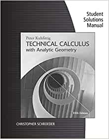 calculus with analytic geometry student solutions manual
