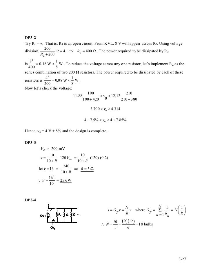introduction to electric circuits 9th solution manual